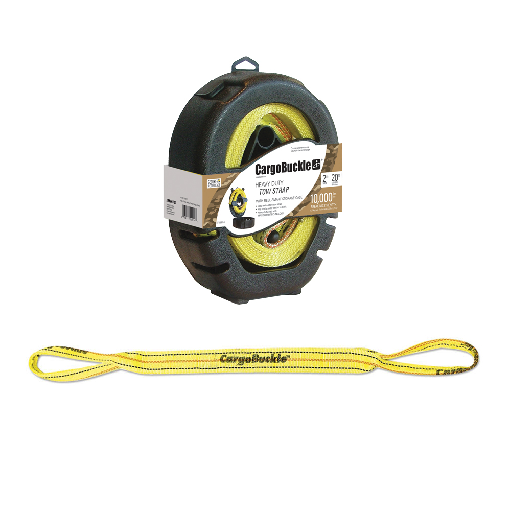 CargoBuckle Reel-Smart Tow Strap w/Reel Smart Storage Case - 20'