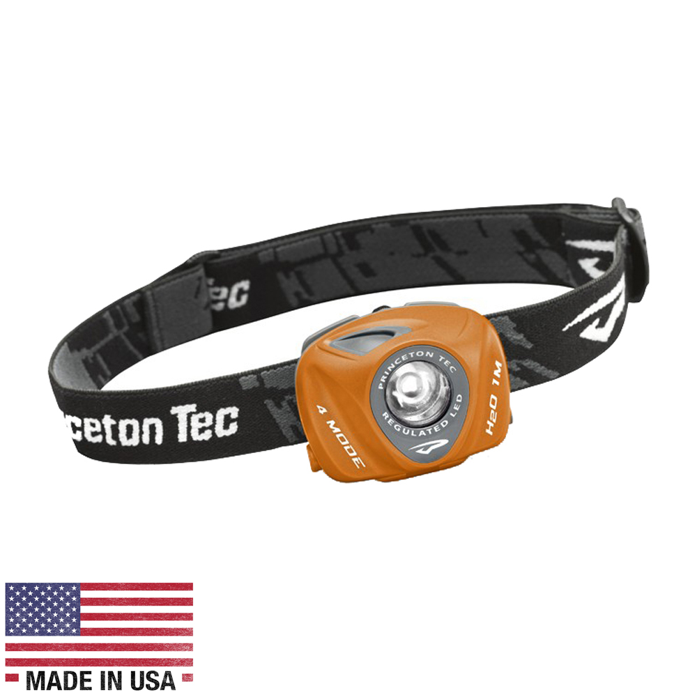 Princeton Tec EOS 130 Lumen LED Headlamp -Orange/Gray