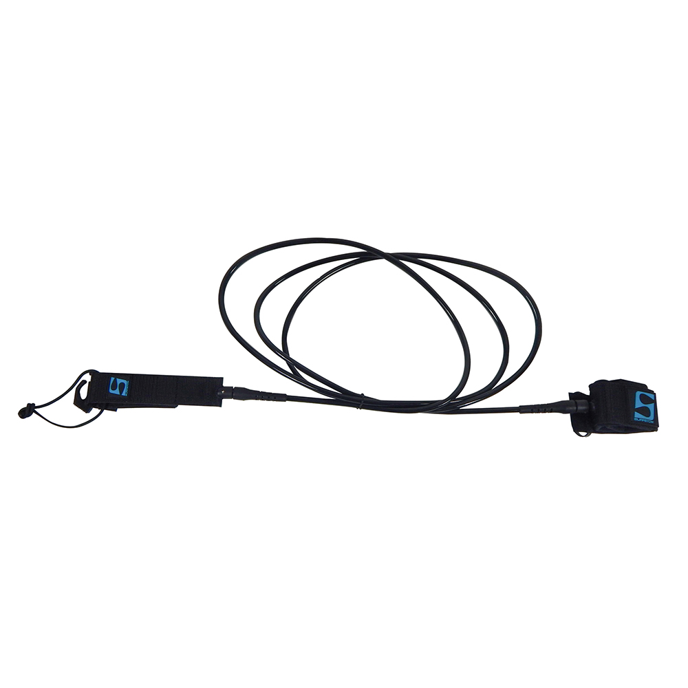 SurfStow SUP Leash - Straight Ankle - 10' - Black
