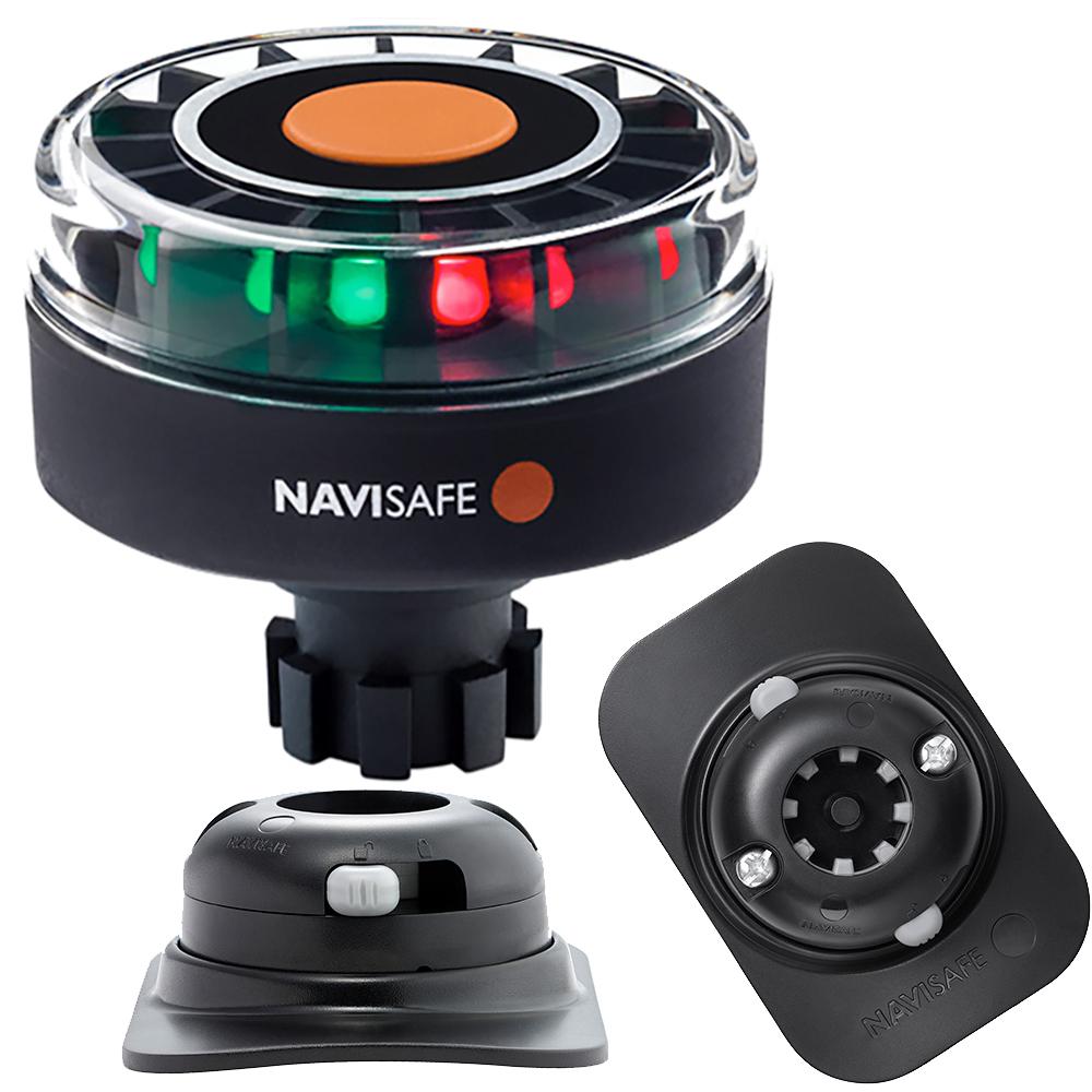 Navisafe Navilight Tricolor 2NM w/Navibolt Base & RIB Mount - Black