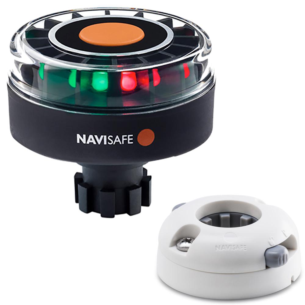 Navisafe Navilight Tricolor 2NM w/Navibolt Base & Horizontal Mount - White