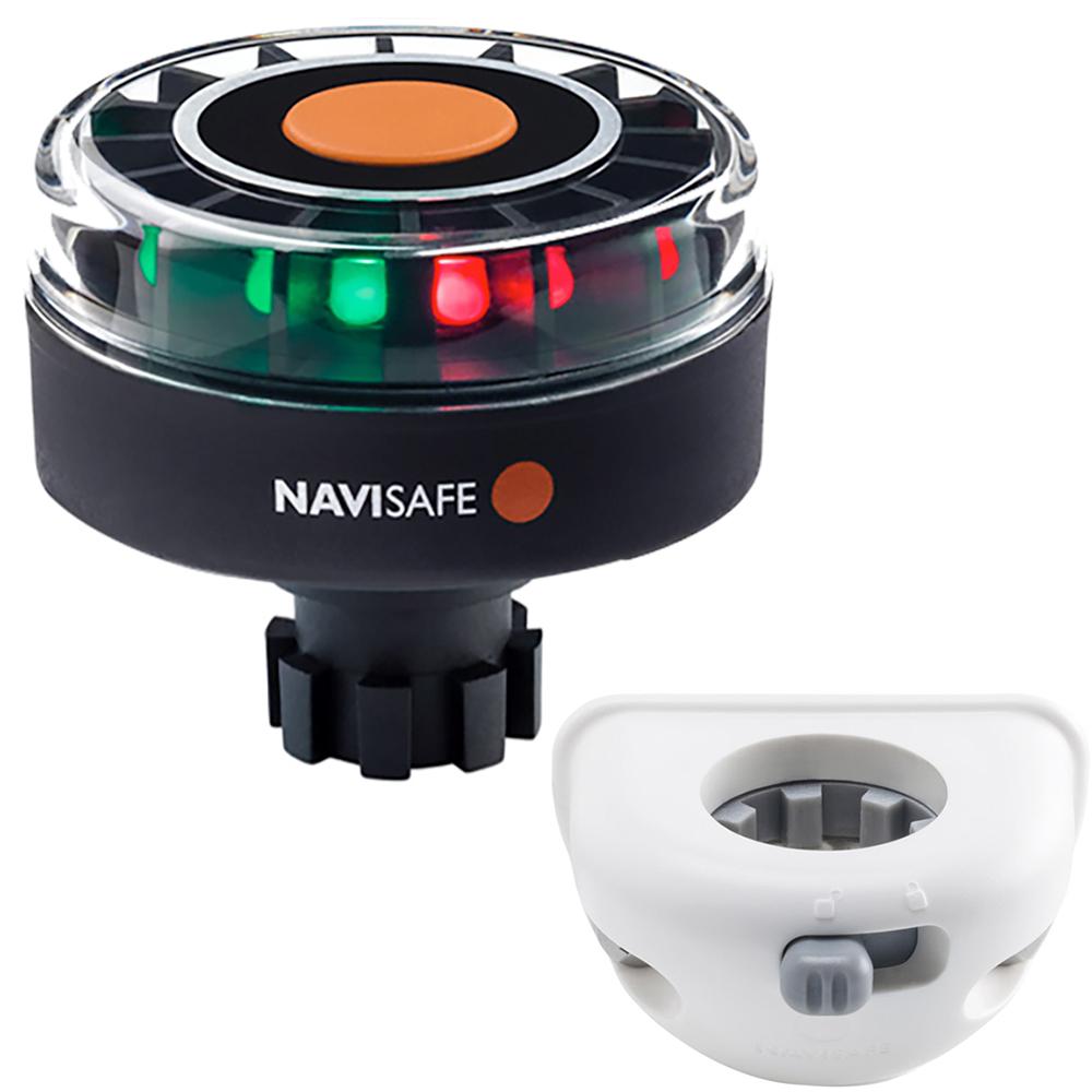 Navisafe Navilight Tricolor 2NM w/Navibolt Base & Vertical Mount - White