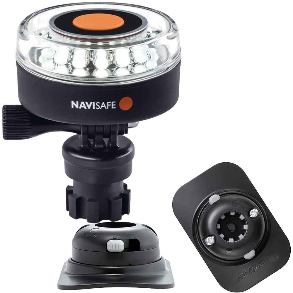 Navisafe Navilight 360° 2NM White w/Navimount Base & RIB Mount - Black