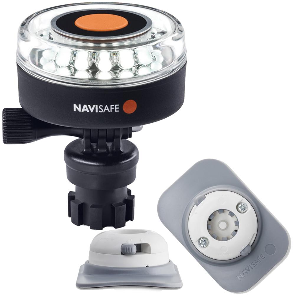 Navisafe Navilight 360° 2NM White w/Navimount Base & RIB Mount - White