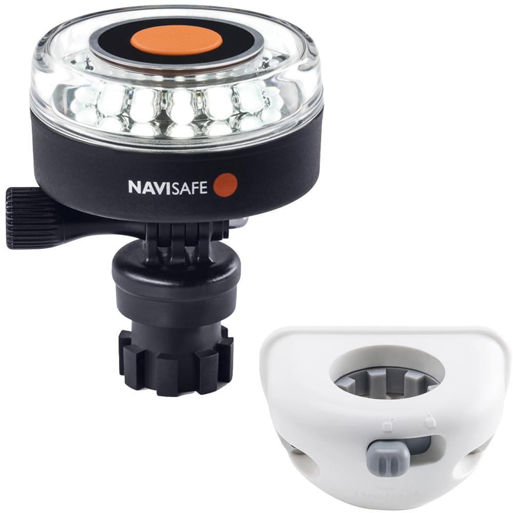 Navisafe Navilight 360° 2NM White w/Navimount Base & Vertical Mount - White