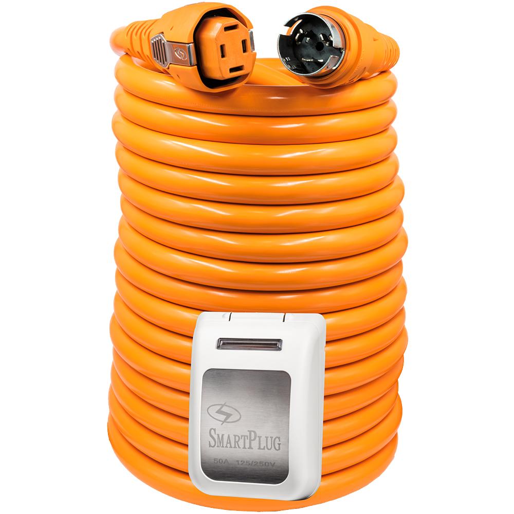 SmartPlug 50 Amp 50' Dual Configuration Cordset w/Tinned Wire & 50 Amp Non Metallic White Inlet