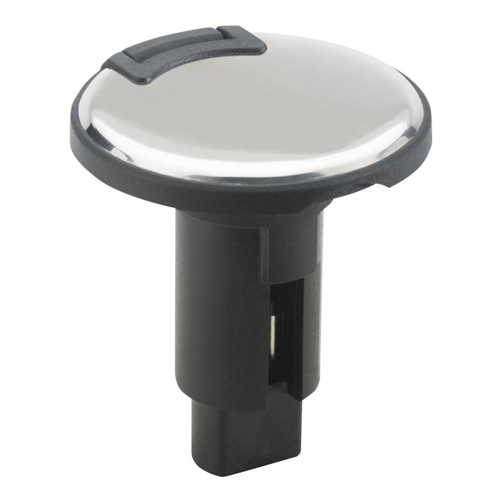 Attwood LightArmor Plug-In Base - 3 Pin - Stainless Steel - Round