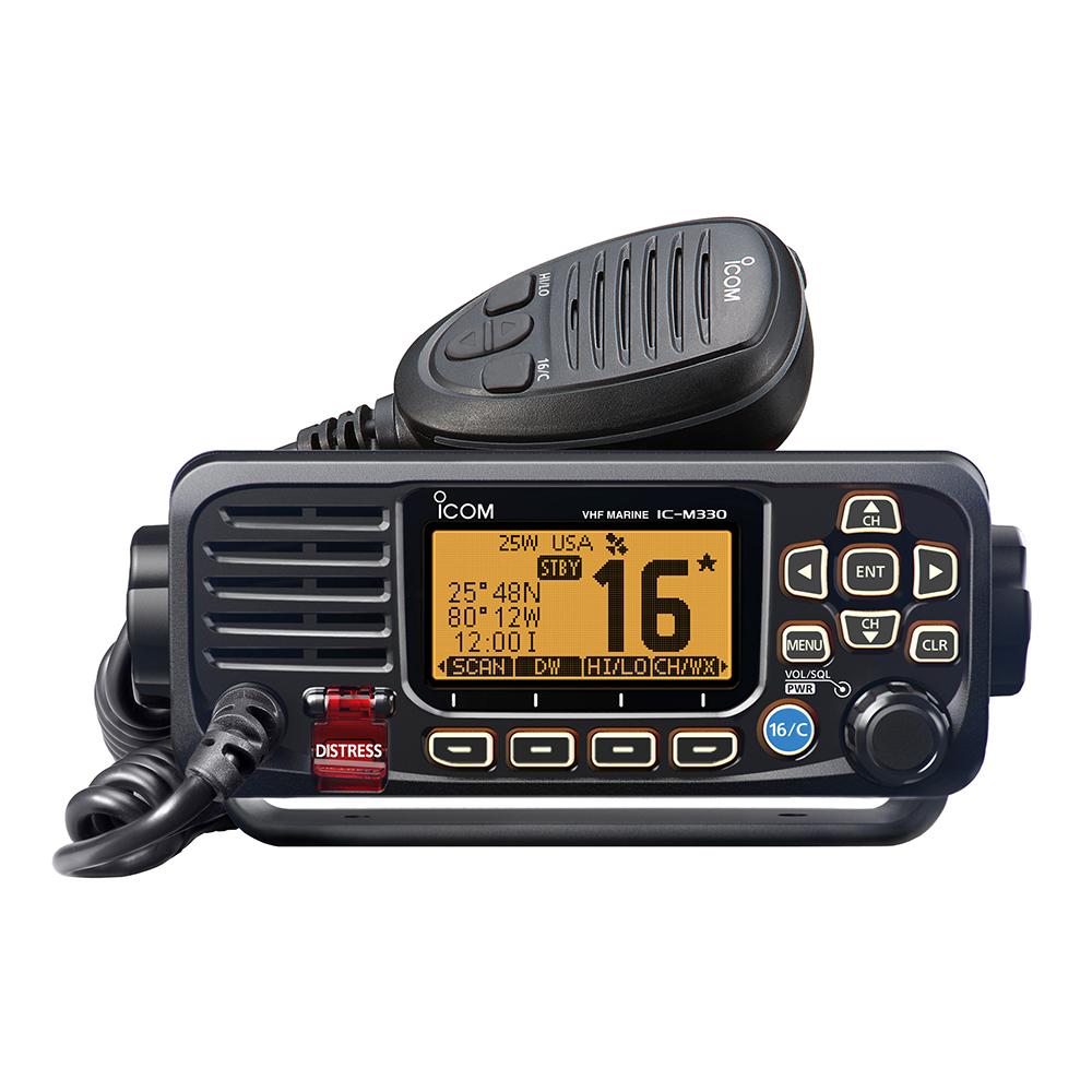 Icom M330 Compact VHF Radio w/GPS - Black