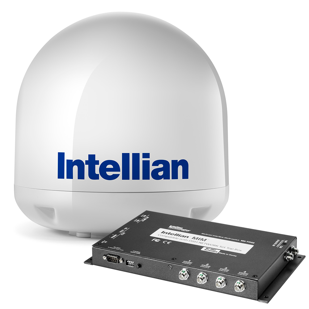 Intellian i3 US System + Dish/Bell MIM Switch w/RG6 1m Cable + RG6 Cable 15m