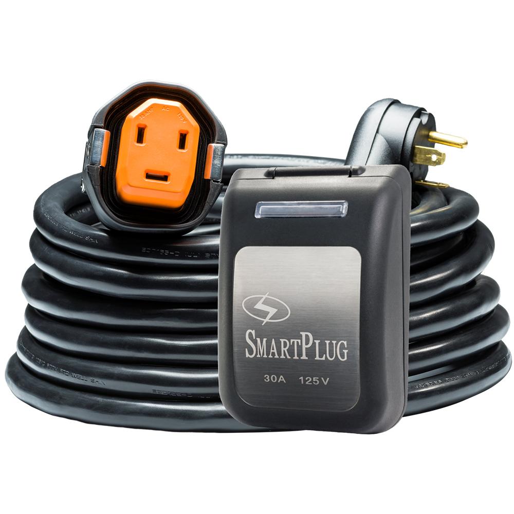 SmartPlug 30 Amp RV Kit 30' Dual Configuration Cordset - Black (SPS X Park Power) & Non Metallic Inlet - Black
