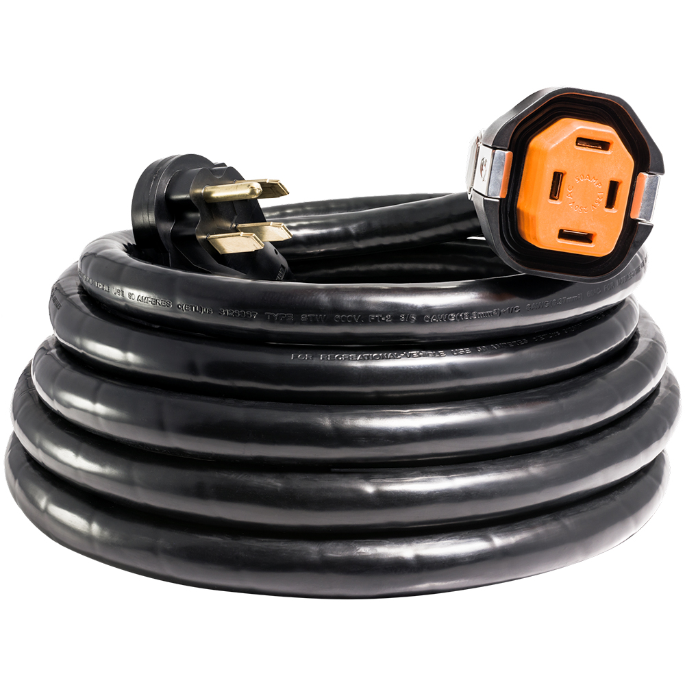 SmartPlug 50 Amp RV 30' Dual Configuration Cordset - Black (SPS X Park Power)