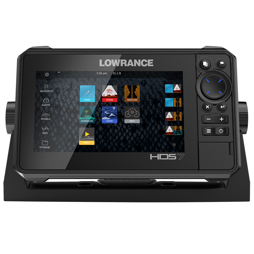 Lowrance HDS-7 LIVE with Active Imaging 3-in-1 Transom Mount & C-MAP Pro Chart - 000-14416-001