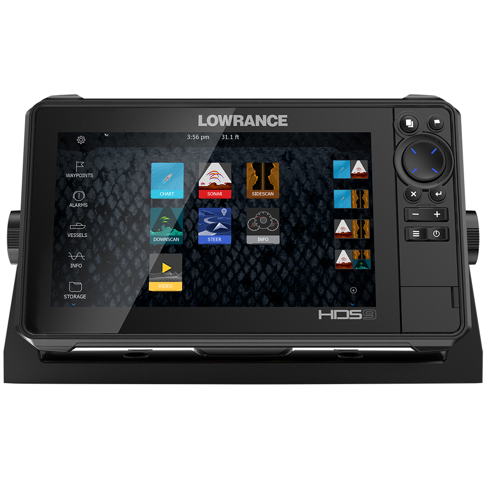 FREE NEXT DAY DELIVERY Lowrance HDS-9 LIVE w/Active Imaging 3-in-1 Transom Mount C-MAP Pro Chart