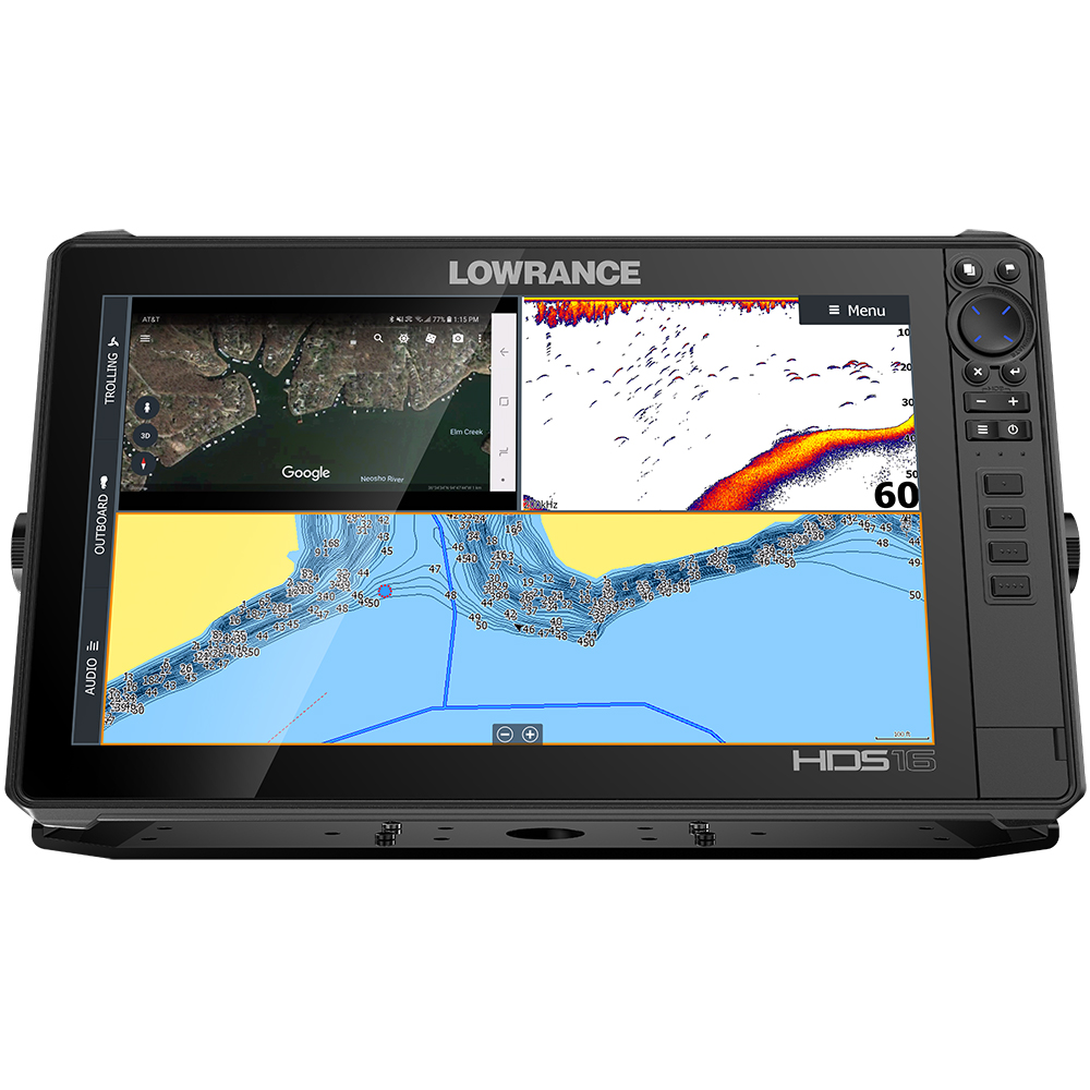 Lowrance HDS-16 LIVE with Active Imaging 3-in-1 Transom Mount & C-MAP Pro Chart - 000-14434-001