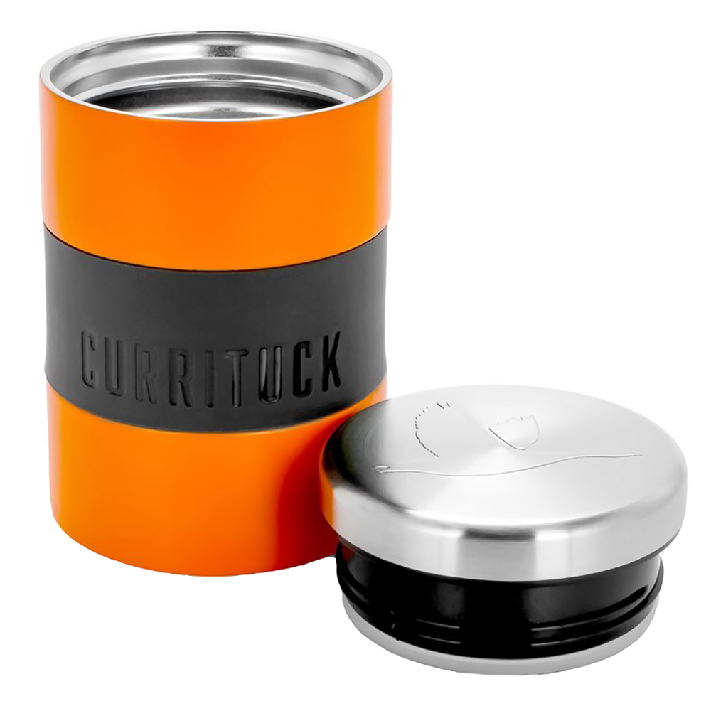 Camco Currituck Stainless Steel Food Container - 12oz - Orange - 51927