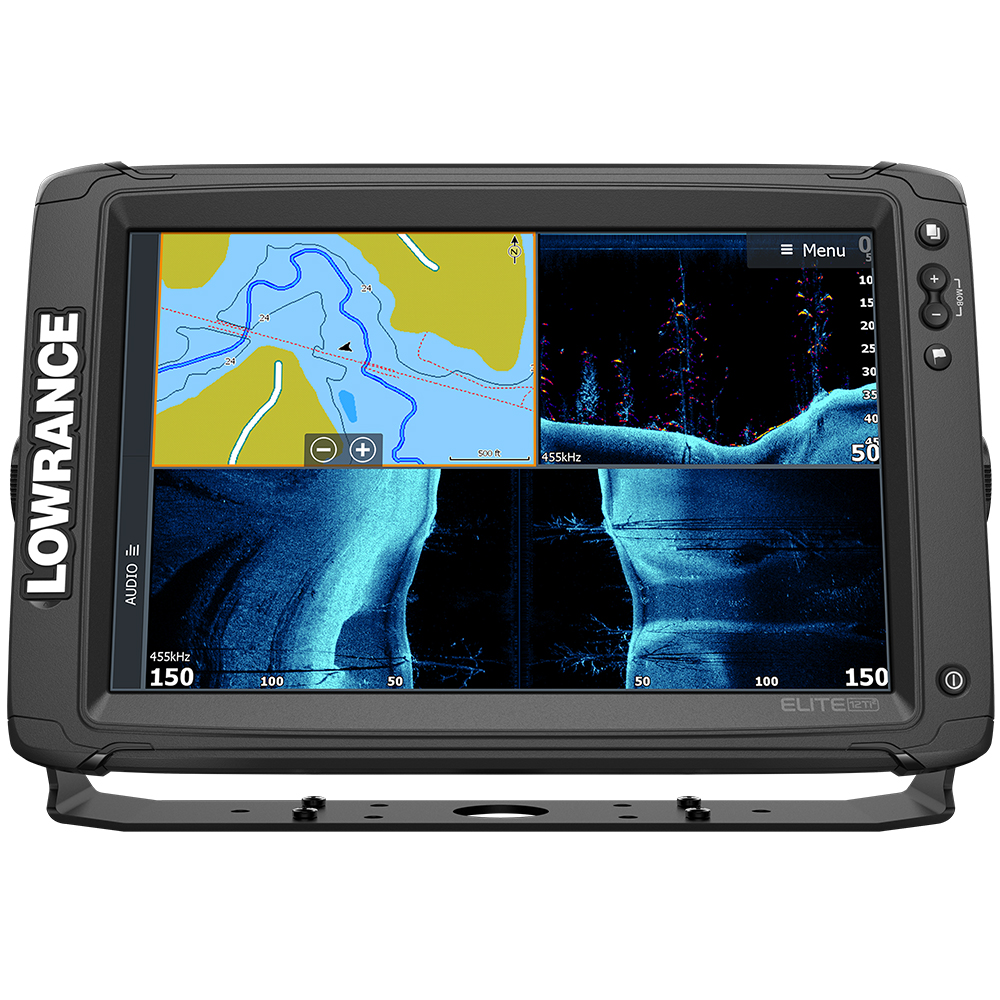 Lowrance Elite-12 Ti² Combo with Active Imaging 3-in-1 Transom Mount Transducer & US/Canada Nav+ Chart - 000-14659-001