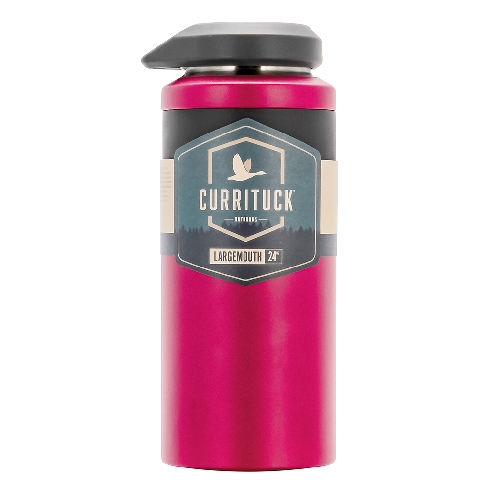 Camco Currituck Wide Mouth Beverage Bottle - 24oz - Raspberry - 51944