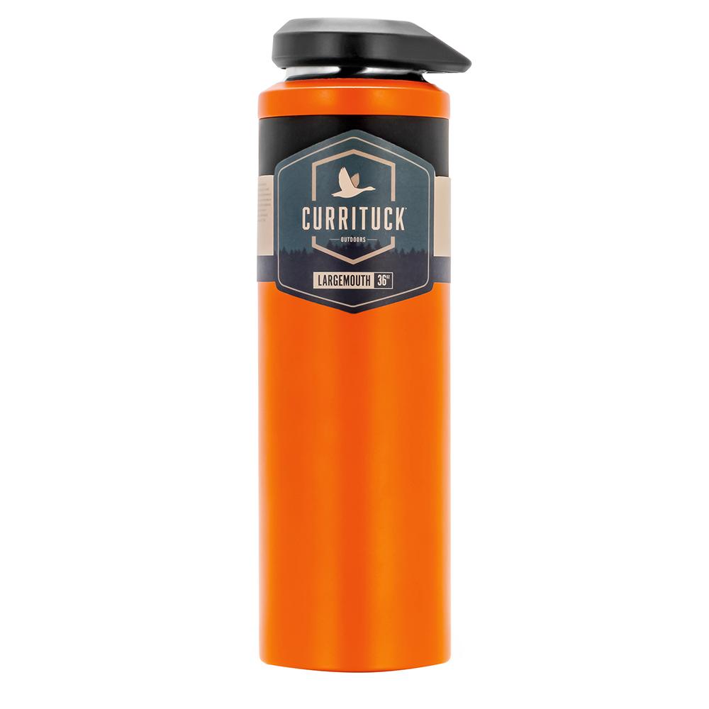 Camco Currituck Wide Mouth Beverage Bottle - 36oz - Orange - 51947