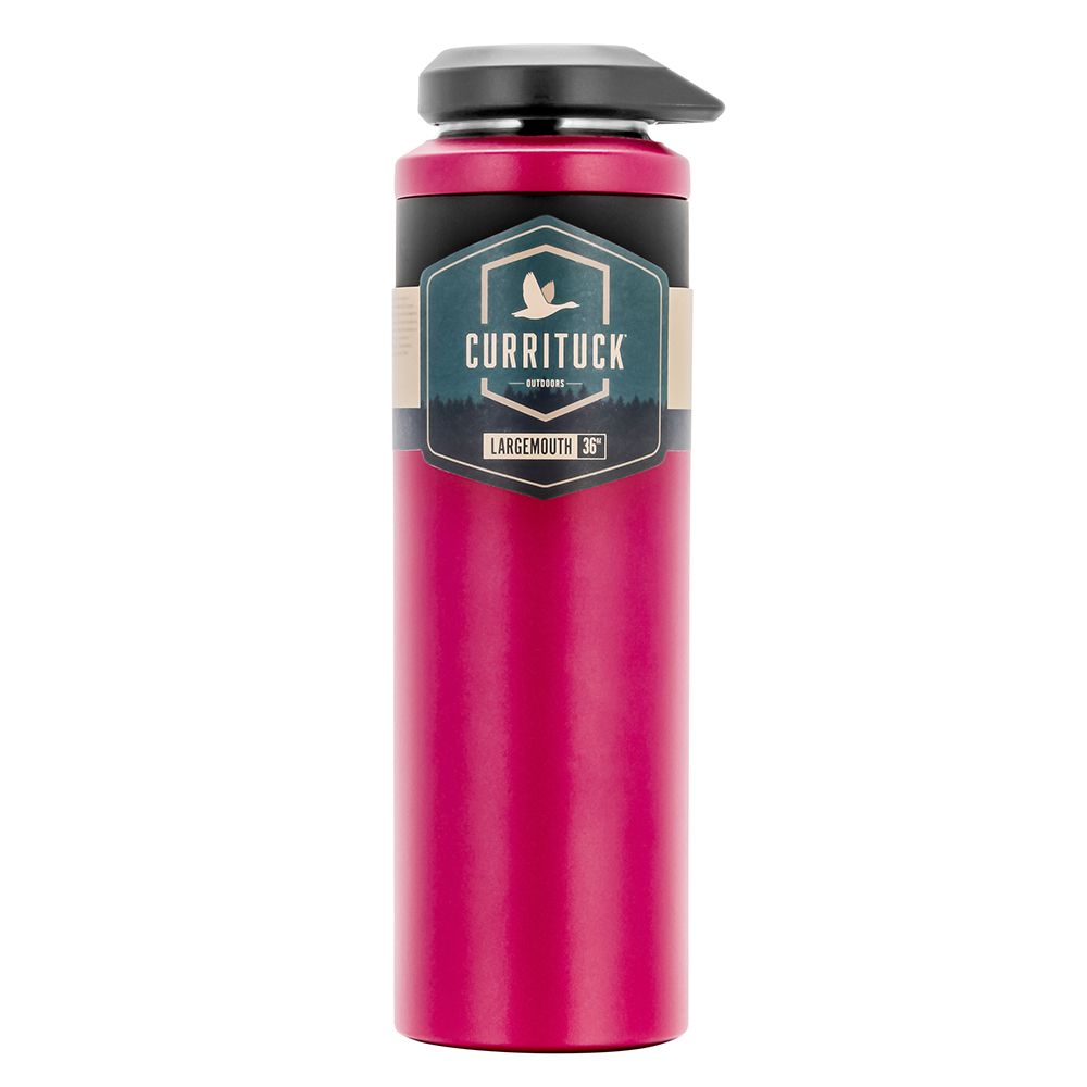 Camco Currituck Wide Mouth Beverage Bottle - 36oz - Raspberry - 51948