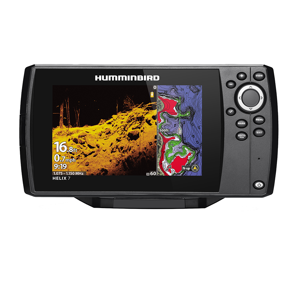 Humminbird HELIX 7 CHIRP MEGA DI Fishfinder/GPS Combo G3 with Transom Mount Transducer - 410940-1