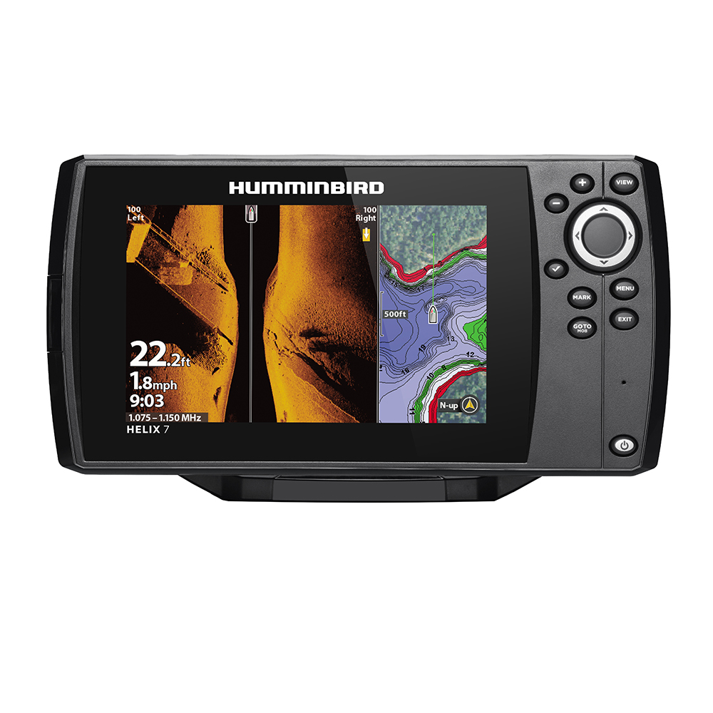 Humminbird HELIX 7 CHIRP MEGA SI Fishfinder/GPS Combo G3 with Transom Mount Transducer - 410950-1