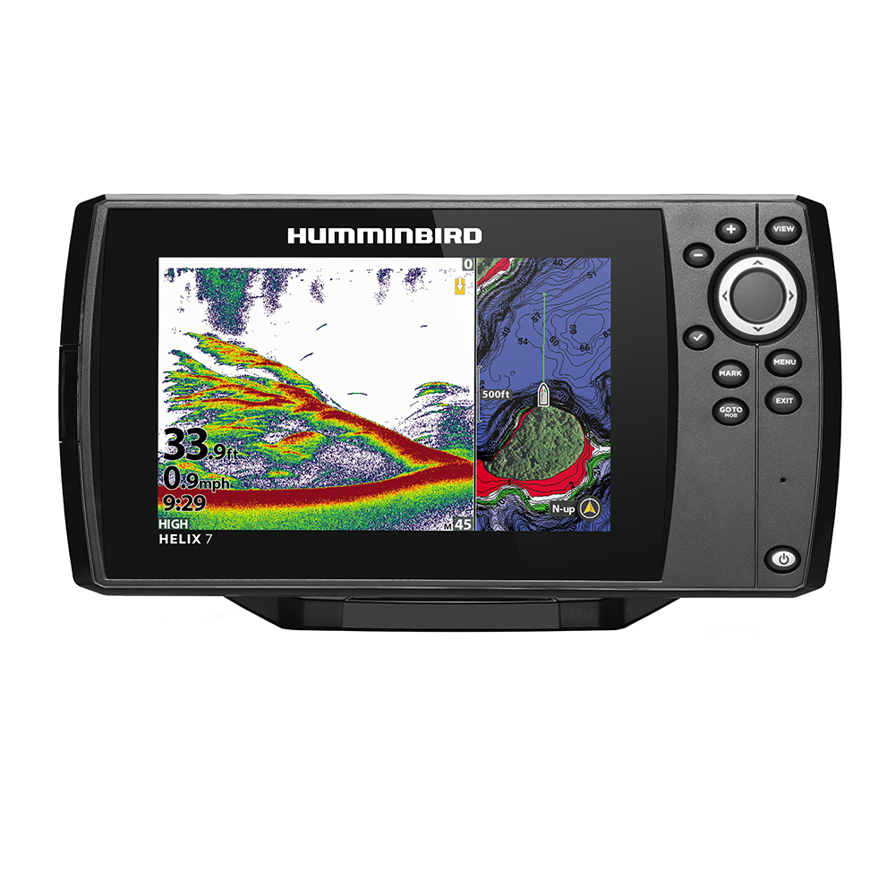 Humminbird HELIX 7 CHIRP Fishfinder/GPS Combo G3N with Transom Mount Transducer - 411060-1