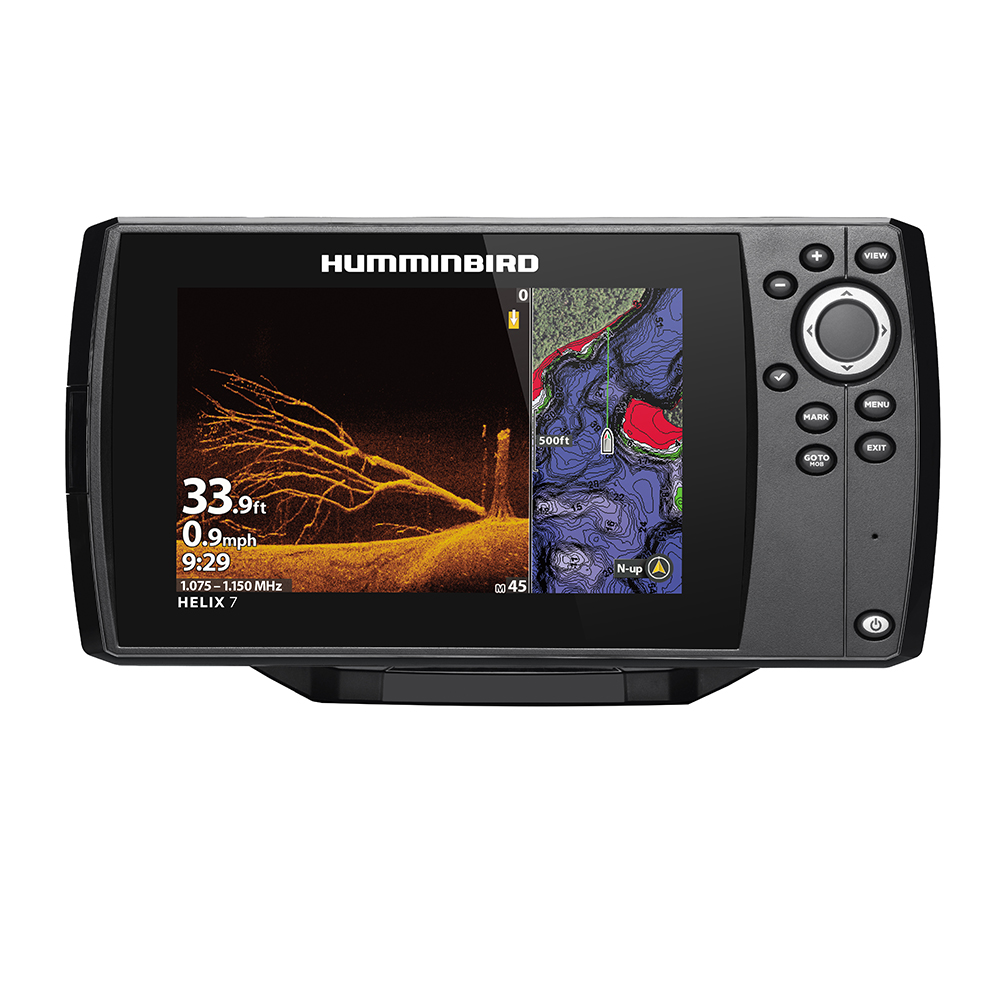 Humminbird HELIX 7 CHIRP MEGA DI Fishfinder/GPS Combo G3N with Transom Mount Transducer - 411070-1