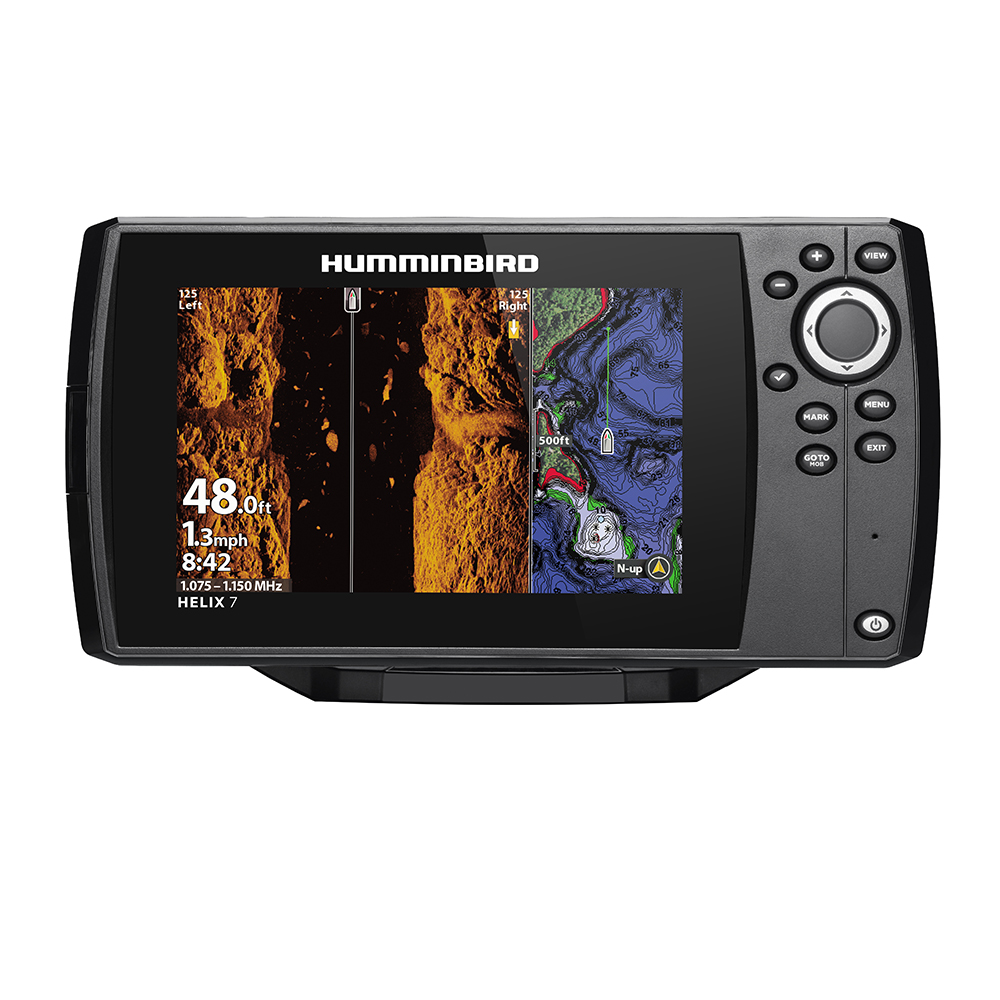 Humminbird HELIX 7 CHIRP MEGA SI Fishfinder/GPS Combo G3N with Transom Mount Transducer - 411080-1