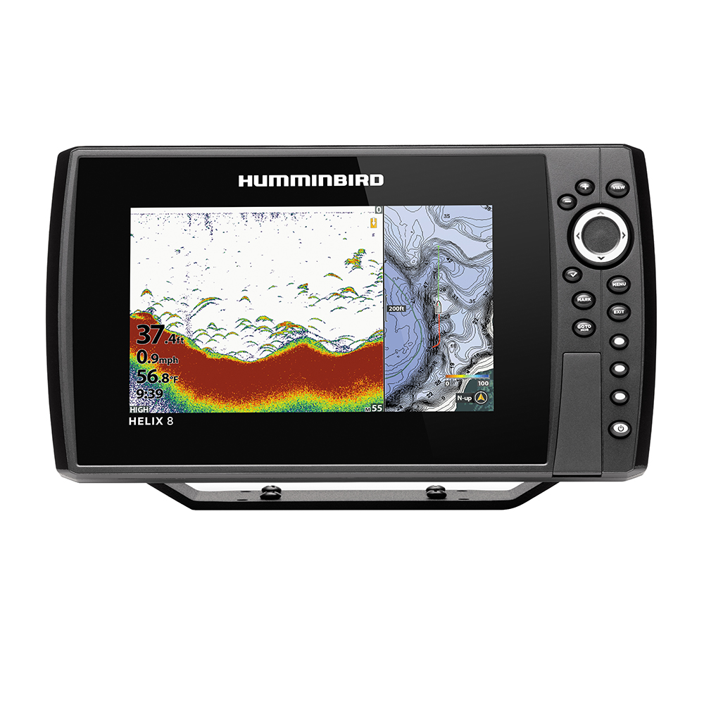 Humminbird HELIX 8 CHIRP Fishfinder/GPS Combo G3N with Transom Mount Transducer - 410810-1