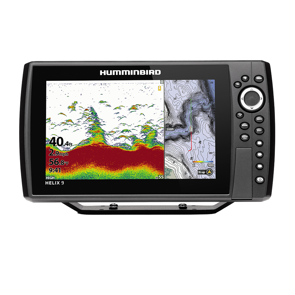 Humminbird HELIX 9 CHIRP Fishfinder/GPS Combo G3N with Transom Mount Transducer - 410840-1