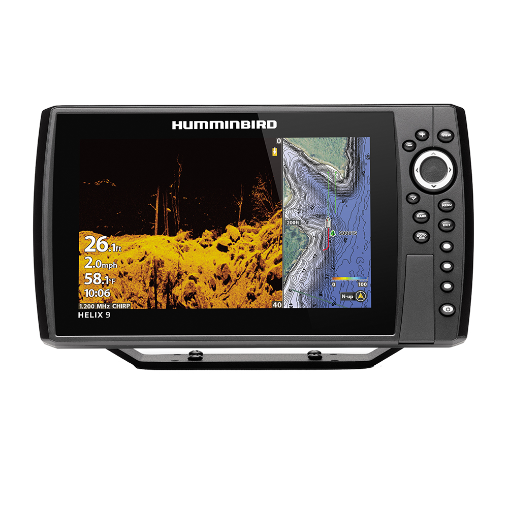 Humminbird HELIX 9 CHIRP MEGA DI Fishfinder/GPS Combo G3N with Transom Mount Transducer - 410850-1