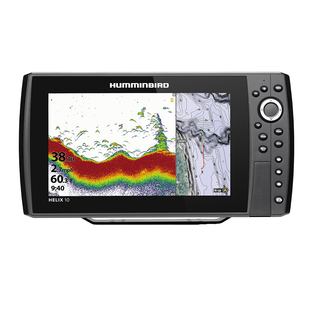 Humminbird HELIX 10 CHIRP Fishfinder/GPS Combo G3N with Transom Mount Transducer - 410870-1