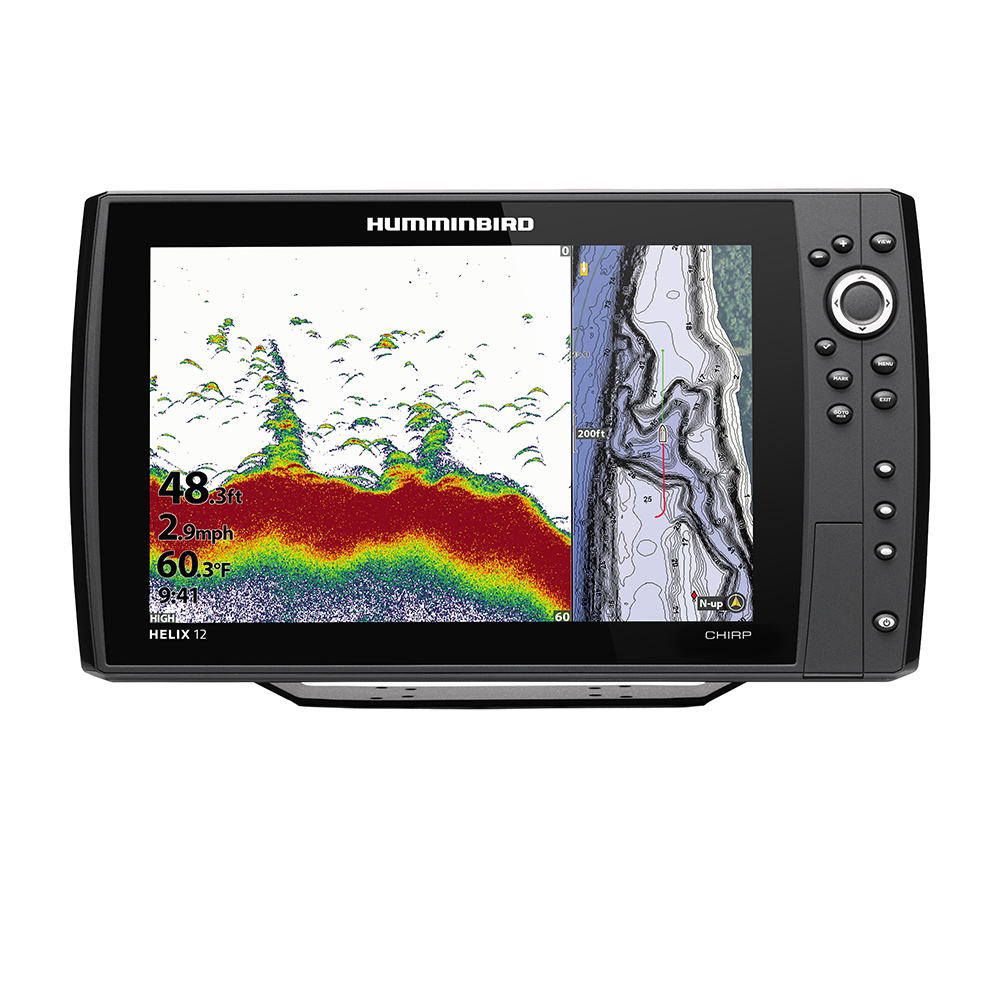 Humminbird HELIX 12 CHIRP Fishfinder/GPS Combo G3N with Transom Mount Transducer - 410900-1