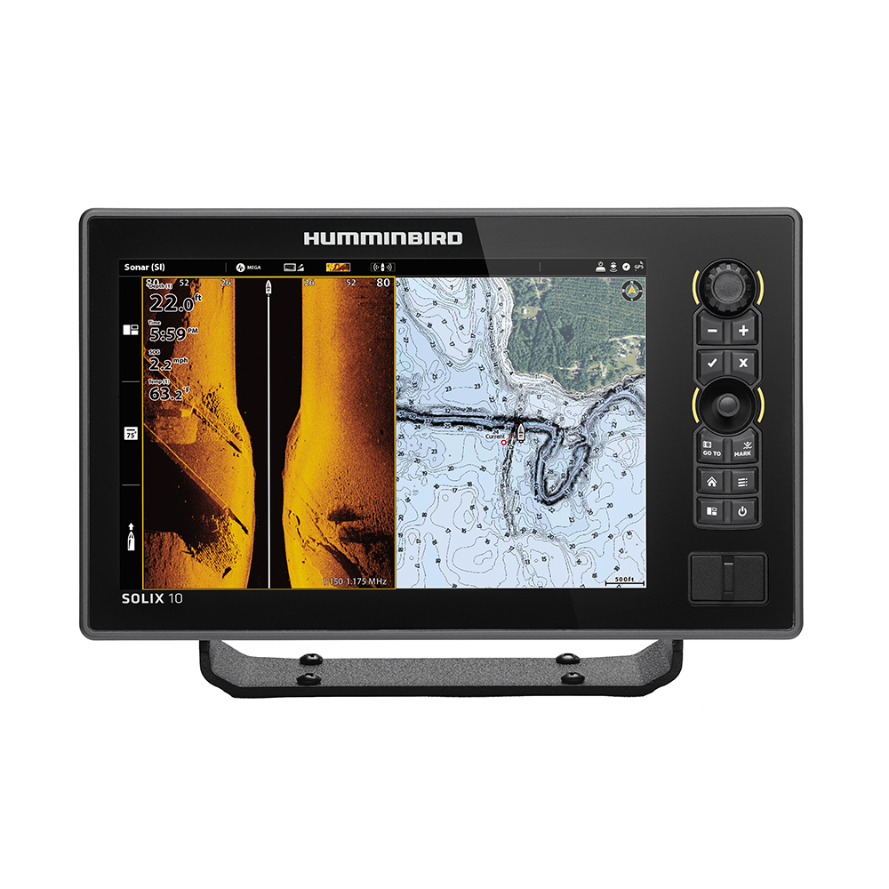 Humminbird SOLIX 10 CHIRP MEGA SI Fishfinder/GPS Combo G2 with Transom Mount Transducer - 411010-1