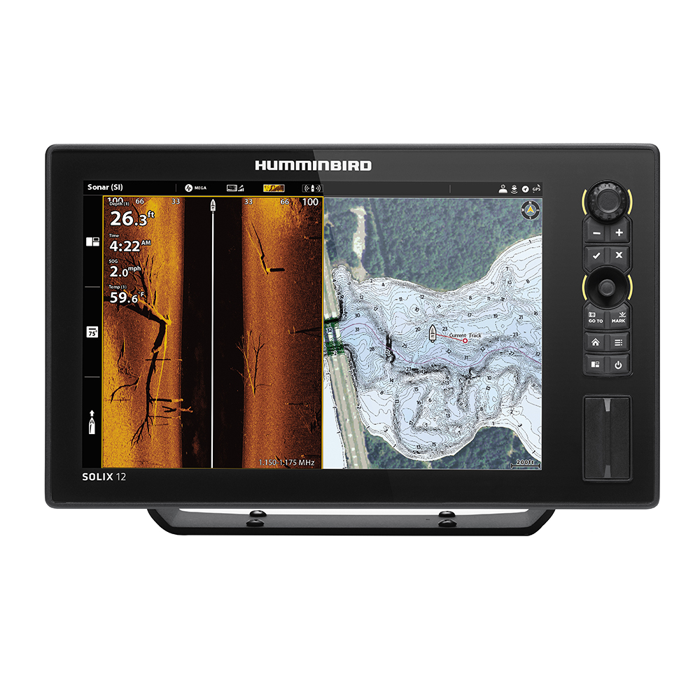 Humminbird SOLIX 12 CHIRP MEGA SI Fishfinder/GPS Combo G2 with Transom Mount Transducer - 411030-1