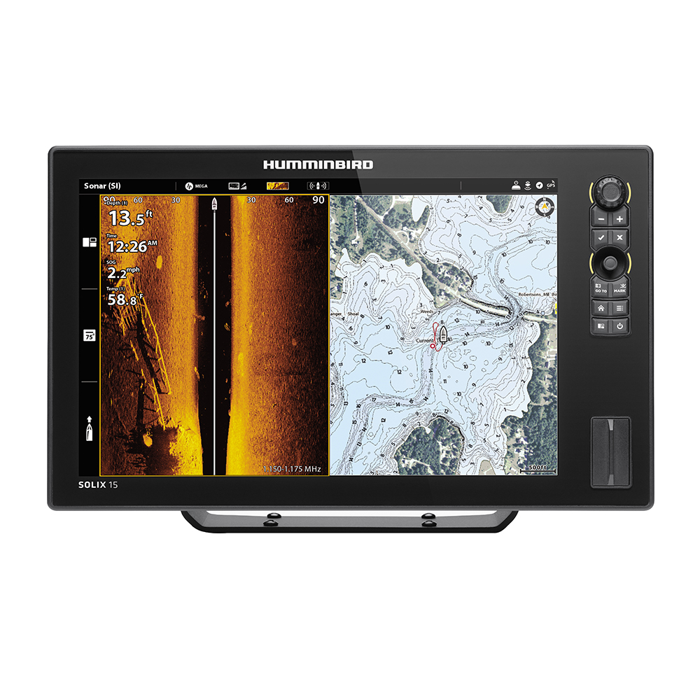 Humminbird SOLIX 15 CHIRP MEGA SI Fishfinder/GPS Combo G2 with Transom Mount Transducer - 411050-1