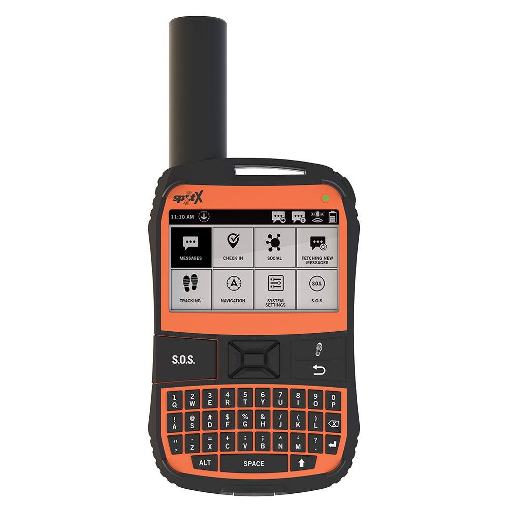 SPOT X 2-Way Satellite Messaging, GPS Tracking & SOS Feature with GEOS Qwerty Keyboard - SPOTX