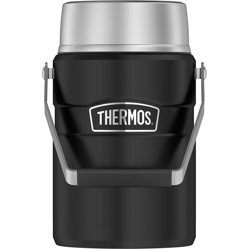 Thermos Food Jar - 47oz - Stainless Steel/Matte Black - SK3030BKTRI4