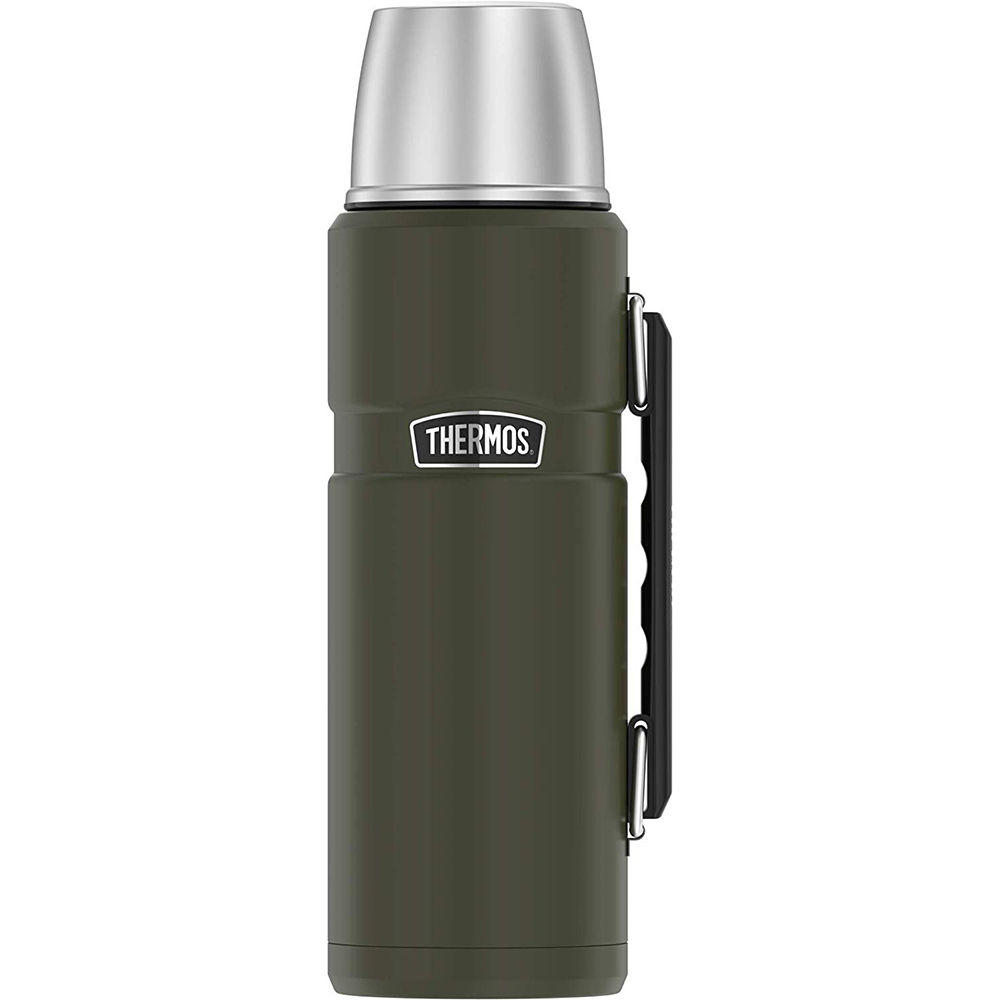 Thermos King Beverage Bottle 40oz - Stainless Steel/Matte Army Green - SK2010AGTRI4