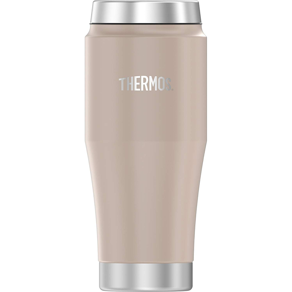 Thermos Vacuum Insulated Stainless Steel Travel Tumbler - 16oz - Matte Stone Gray - H1018SG4