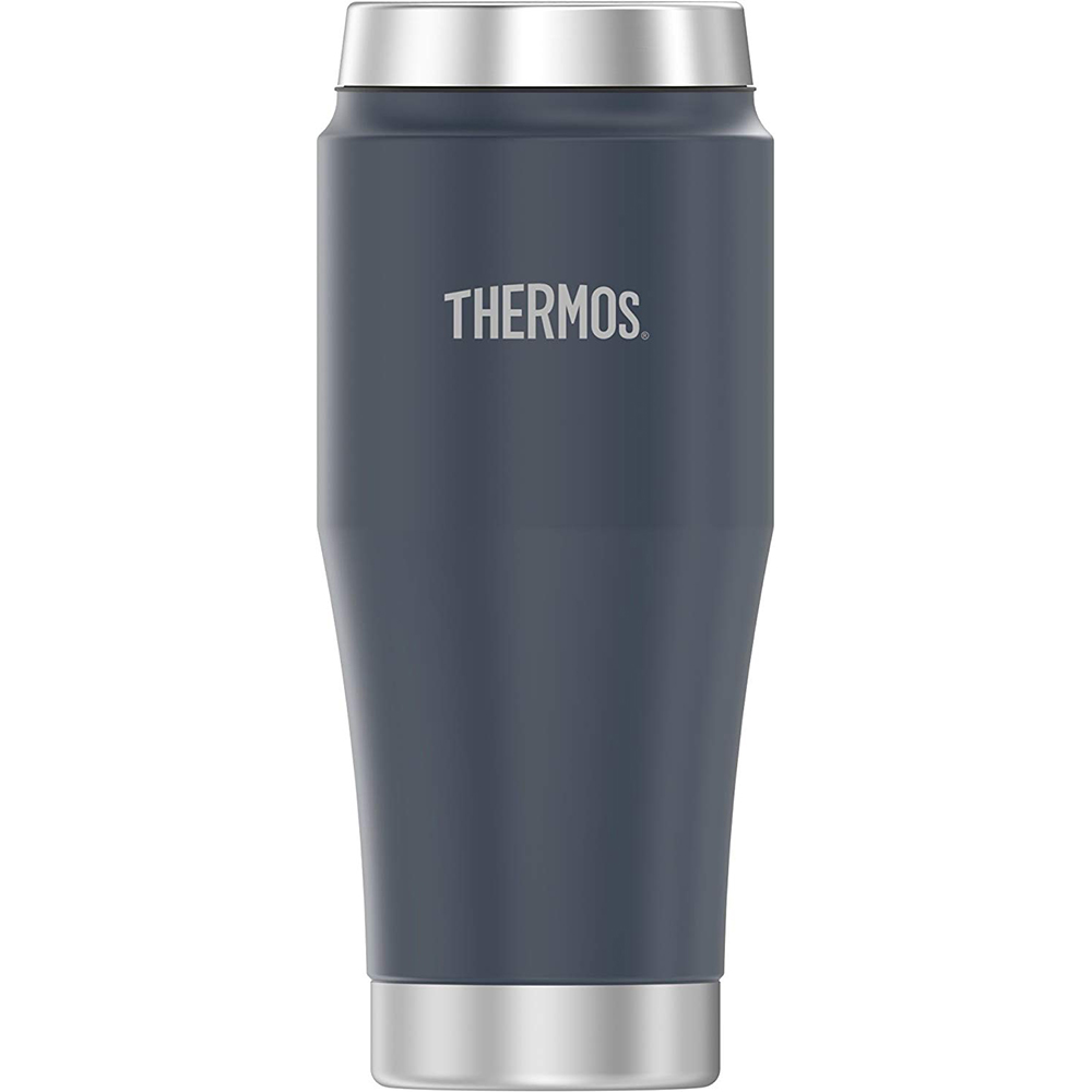 Thermos Vacuum Insulated Stainless Steel Travel Tumbler - 16oz - Matte Dusty Blue