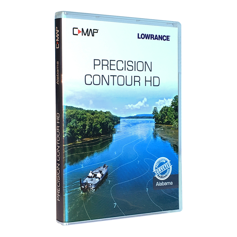 Lowrance C-MAP Precision Contour HD Chart for Alabama - 000-14808-001