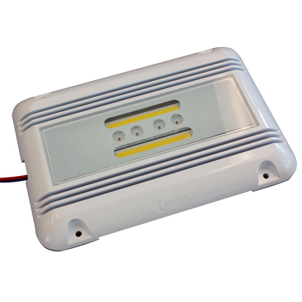 Lunasea LED Engine Room Utility Light - 16W - 3,200 Lumen Output, Ignition Proof, 10-40 VDC, 4000K Natural White LEDs - LLB-51WO-91-10