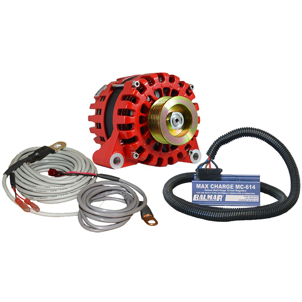 Balmar Alternator Vortec K6 Serpentine Pulley Regulator & Temp Sensor - 170A - 12V - XT-VT-170-K6-KIT