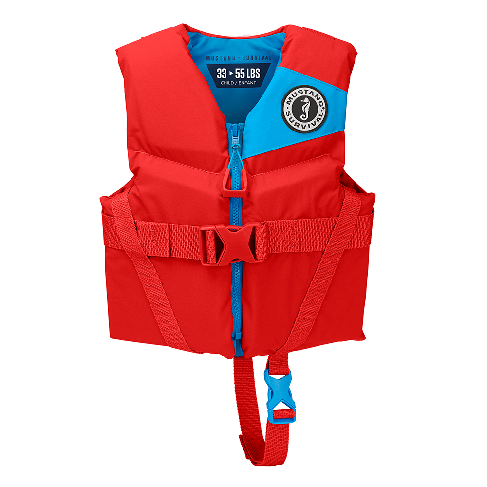 Mustang Rev Child Foam Vest - 30-50lbs - Imperial Red
