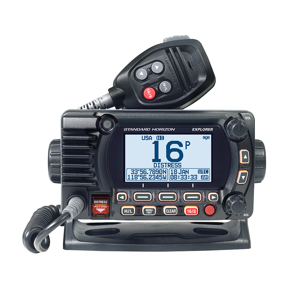 Standard Horizon GX1800G Fixed Mount VHF with GPS - Black - GX1800GB