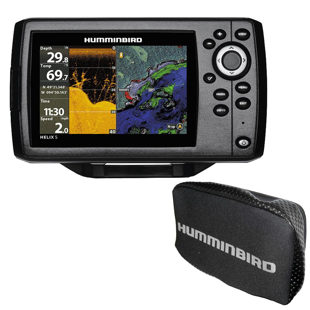Humminbird HELIX® 5 CHIRP DI GPS G2 Combo w/Free Cover