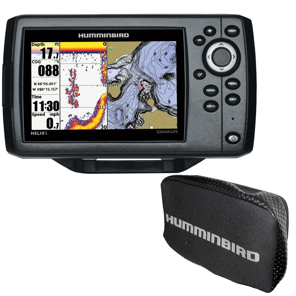 Humminbird HELIX® 5 CHIRP DI GPS G2 Combo w/Nav+ and Cover