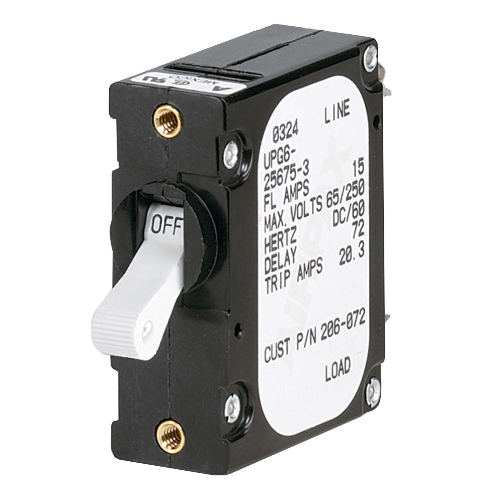 Paneltronics 'A' Frame Magnetic Circuit Breaker - 15 Amps - Single Pole - 206-072S
