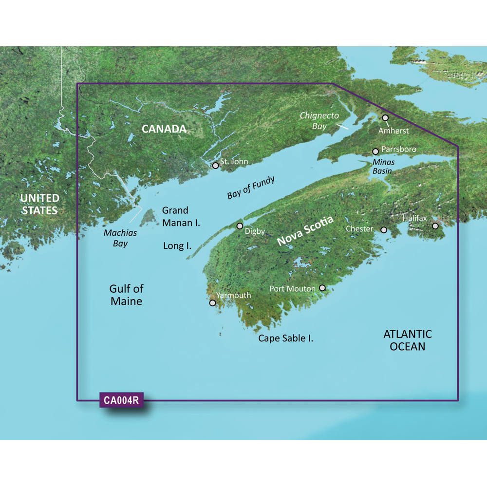 Garmin Vca004R Bay Of Fundy Bluechart G2 Vision 010C069000 eBay
